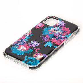 Dark Floral Protective Phone Case - Fits iPhone 11,