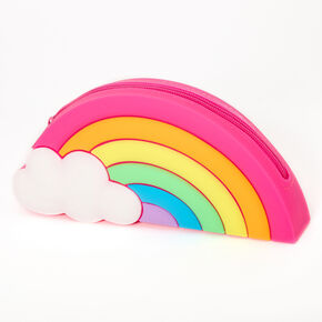 Rainbow Jelly Pencil Case - Pink,
