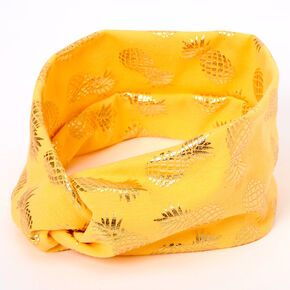 Bandeau torsadé ananas métallisé - Orange,