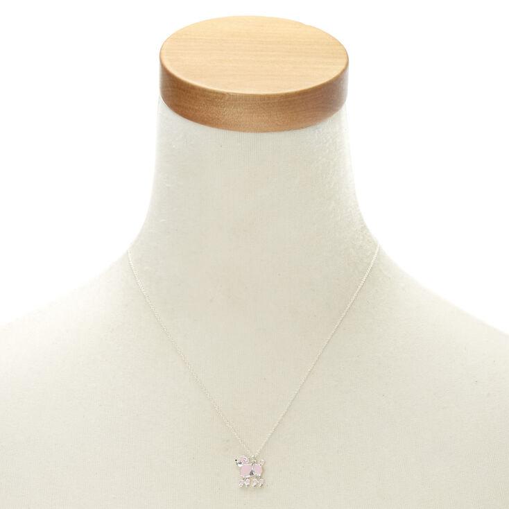Pink Poodle Pendant Necklace,