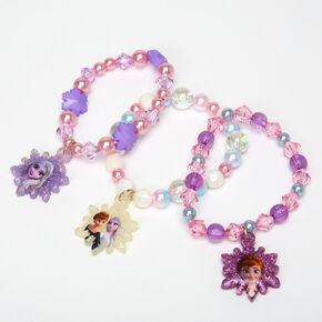 ©Disney Frozen 2 Purple Beaded Stretch Bracelets – 3 Pack,