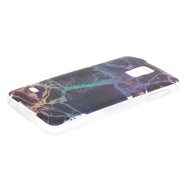 Claire's - midnight cracked marble phone case - 2