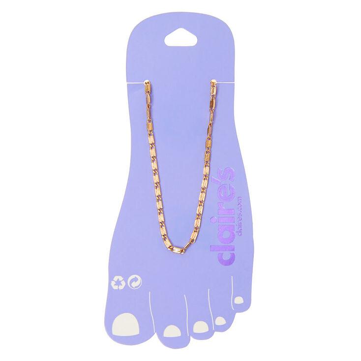 Gold Sicily Chain Anklet,