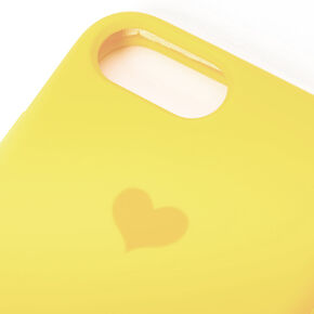Yellow Heart Phone Case - Fits iPhone 6/7/8/SE,