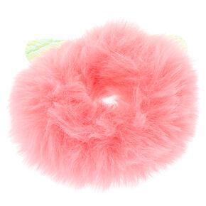 Medium Faux Fur Ears Hair Scrunchie - Pink,
