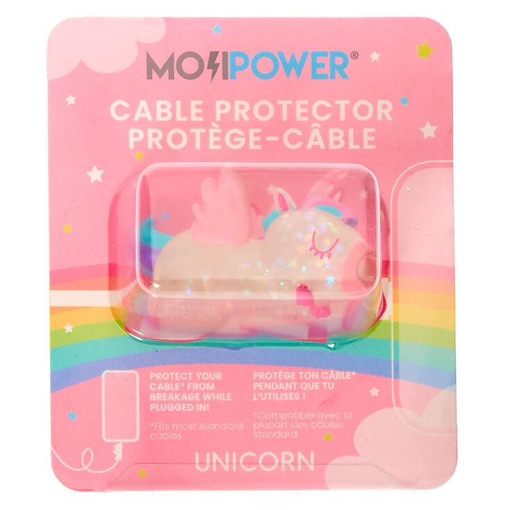 Protecteur pour câble licorne pailleté MojiPower® - Transparent,