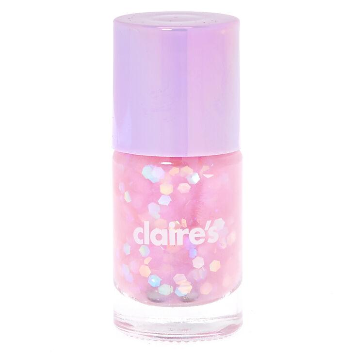 Purple Pastel Glitter Nail Polish,