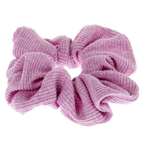 Medium Ribbed Hair Scrunchie - Lilac,
