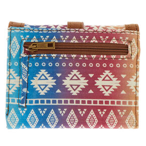 Trifold Ombre Aztec Wallet,