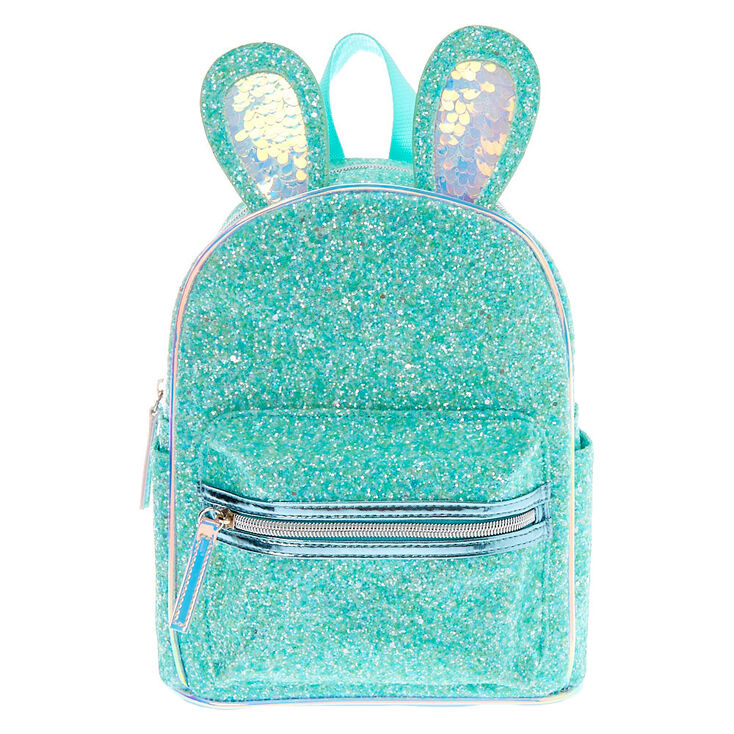 Glitter Bunny Small Backpack - Mint,