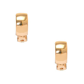Rose Gold 10MM Clip On Hoop Earrings,