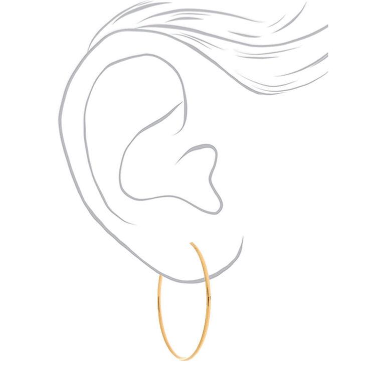 18kt Gold Plated 30MM Hoop Earrings,