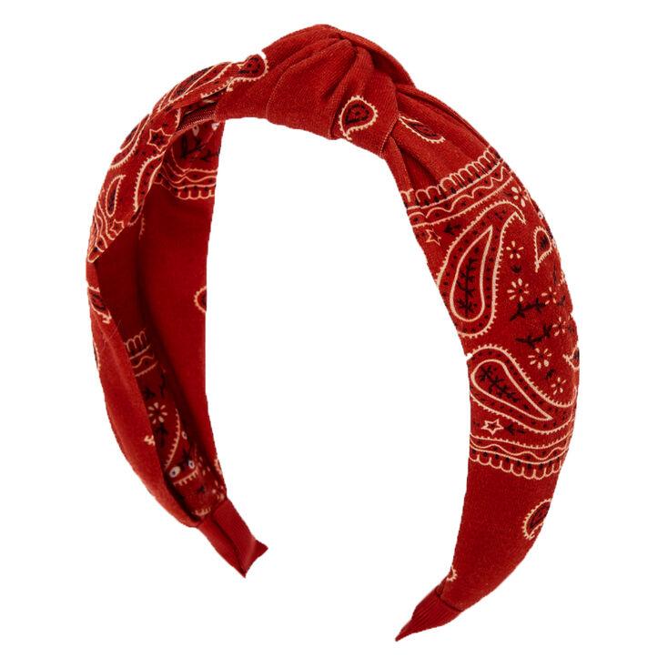 Bandana Knotted Headband - Rust,