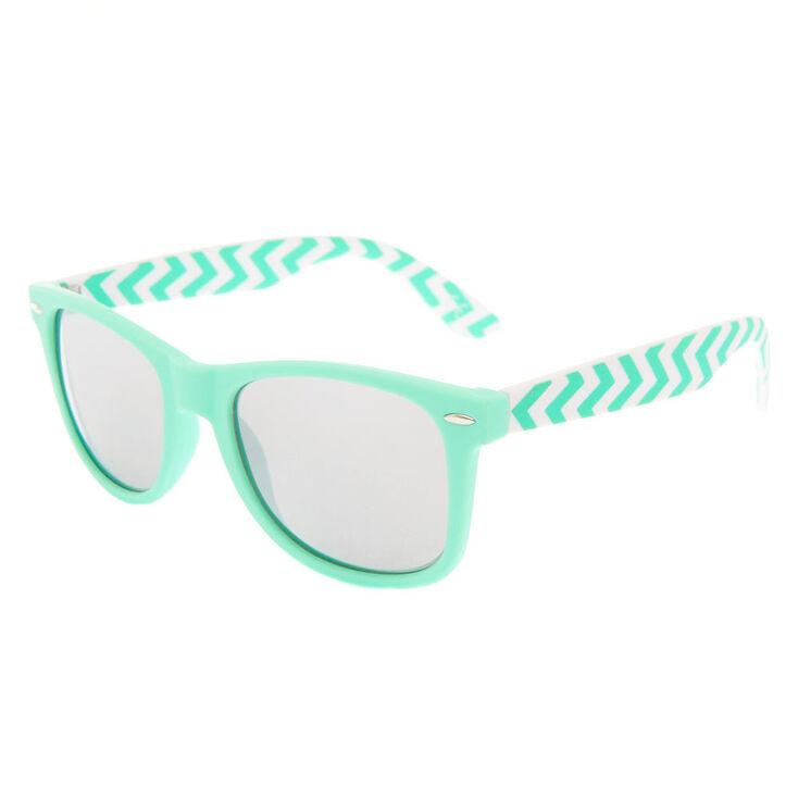 02e48b8fbb6d Chevron Retro Sunglasses - Mint