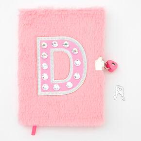 Giant Initial Furry Lock Diary - D,
