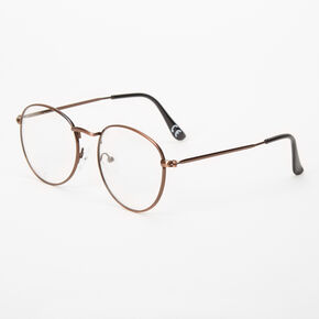 Bronze Round Clear Lens Frames,