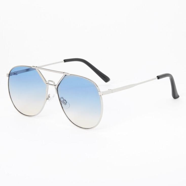 Vintage 80's Aviator Sunglasses - Blue,