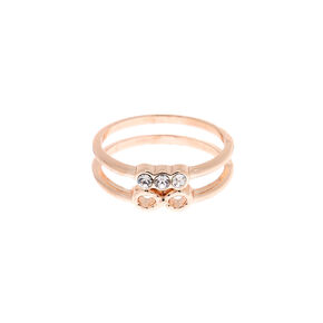 Rose Gold Infinity Stone Midi Ring,