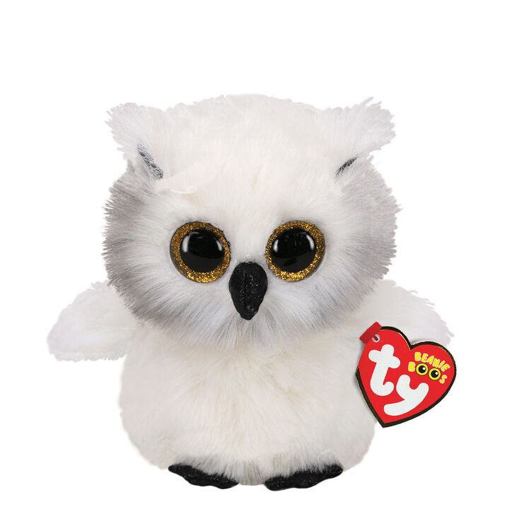 Ty Beanie Boo Small Austin the Owl Soft Toy,