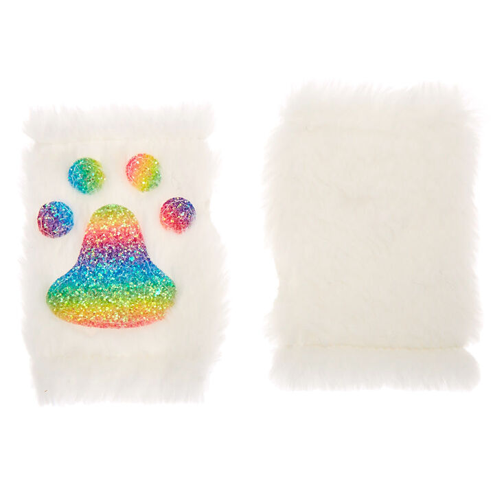 Furry Rainbow Cat Costume Set - White, 3 Pack,