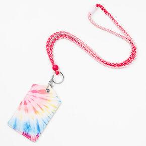 Rainbow Tie Dye Lanyard - Pink,