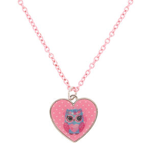 Claire's Club Holographic Heart Necklace,