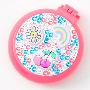Get Happy Bling Pop-Up Hair Brush - Pink,