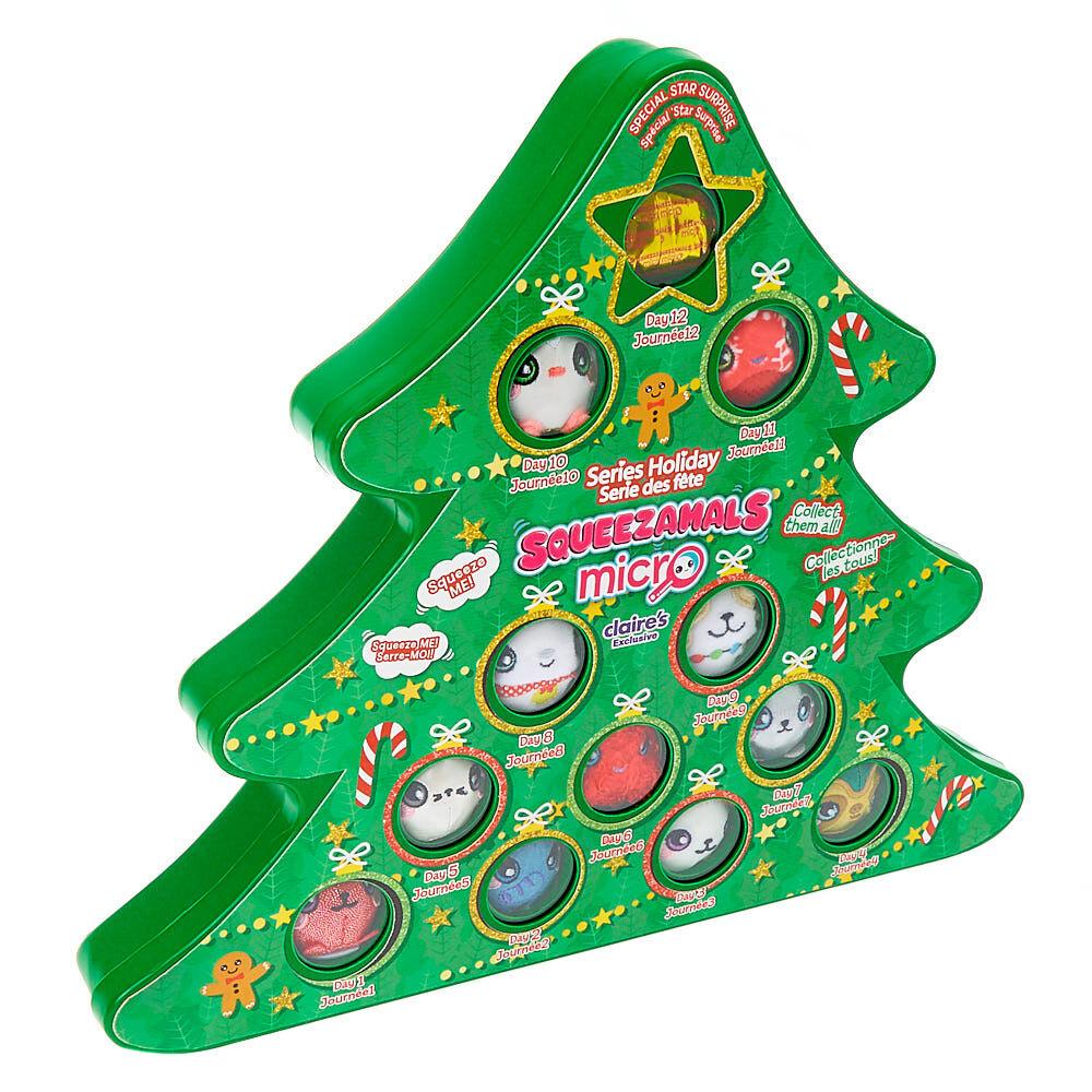 "Girls 12 Days Of Christmas Advent Calendar Glitter 4/"" Hair Bows Clips Gift Set"