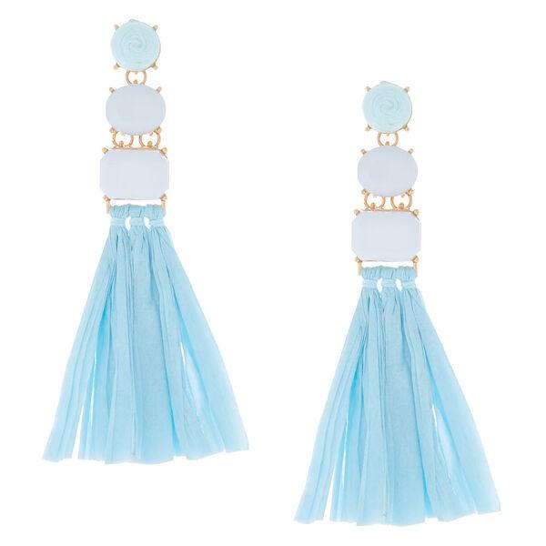 Claire's - raffia drop earrings - 1