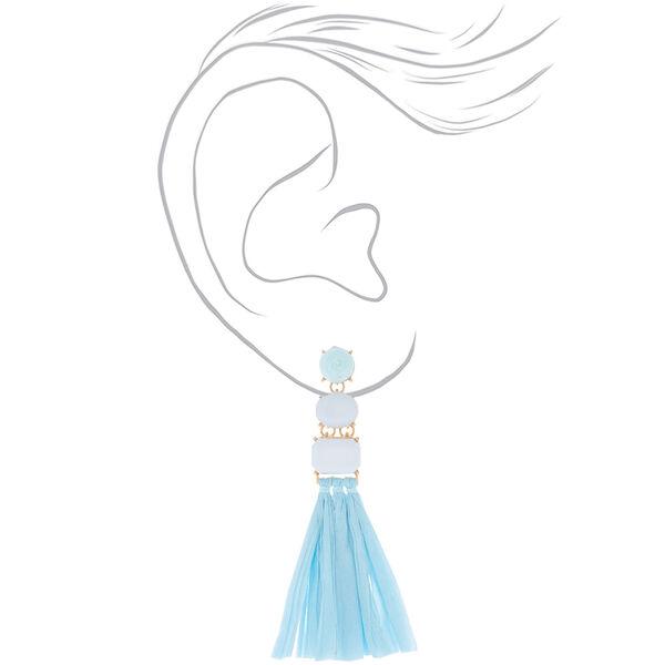 Claire's - raffia drop earrings - 2