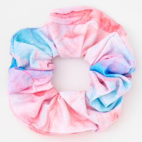Blue & Purple Marble Print Hair Scrunchie,