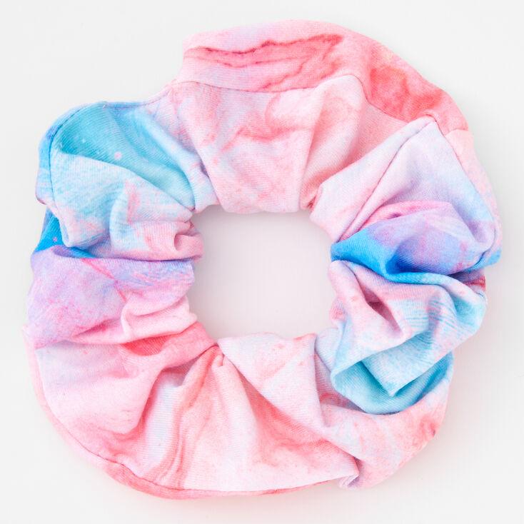 Blue & Purple Marble Print Hair Scrunchie,