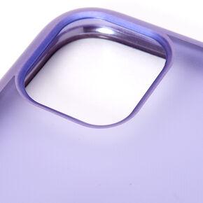 Coque de portable cœur effet givré lavande - Compatible avec iPhone 11,