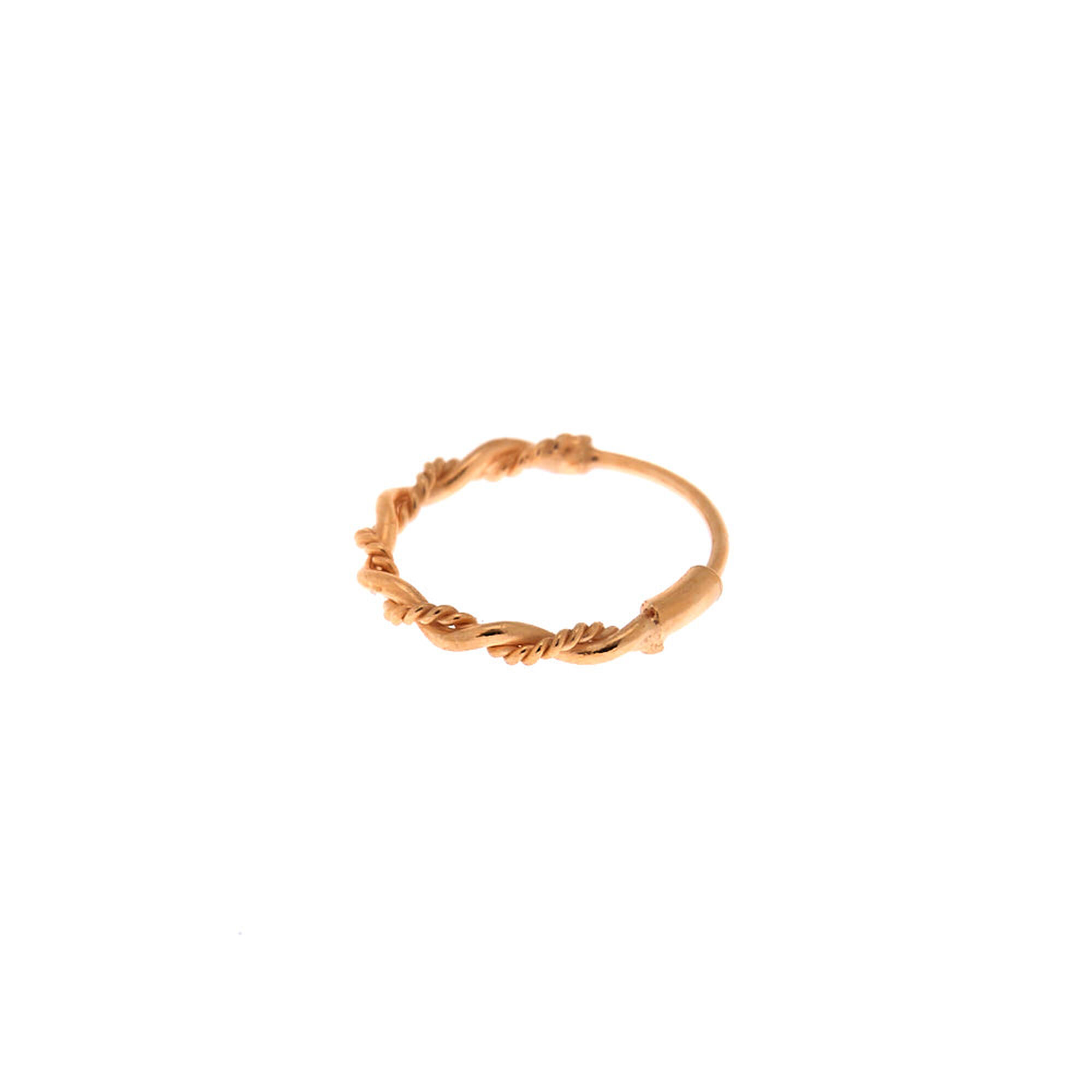 Sterling Silver Rose Gold 22g Chain Twist Nose Ring
