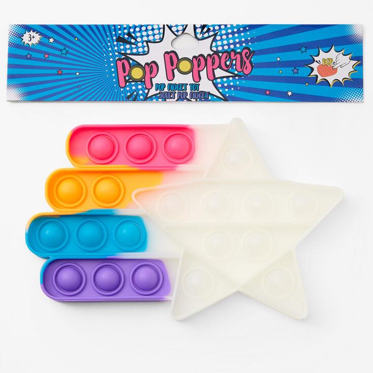 Pop Poppers Star Fidget Toy - Rainbow,