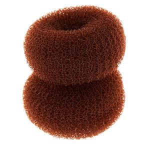 Mini Hair Donuts - Brown, 2 Pack,