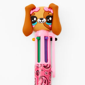 Paisley Puppy Multicolored Pen - Pink,