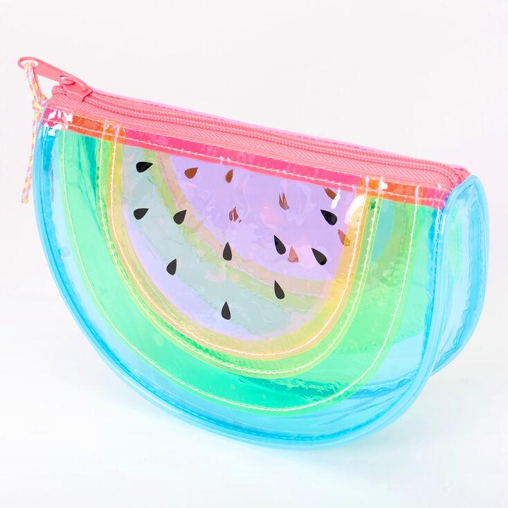 Neon Transparent Watermelon Makeup Bag,