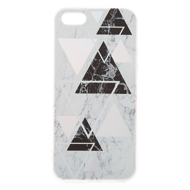 Silver Geometric Marble Phone Case - Fits iPhone 5/5S,