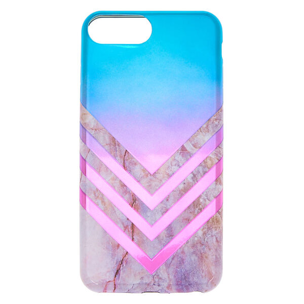 Claire's - metallic ombre geometric phone case - 1