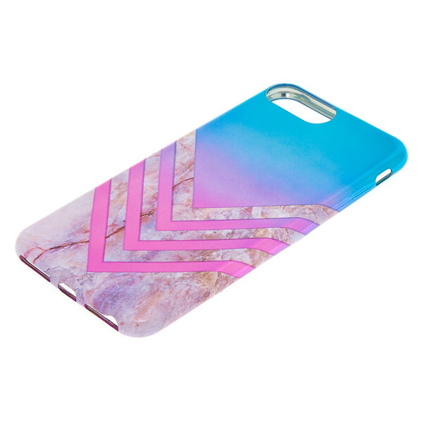 Claire's - metallic ombre geometric phone case - 2