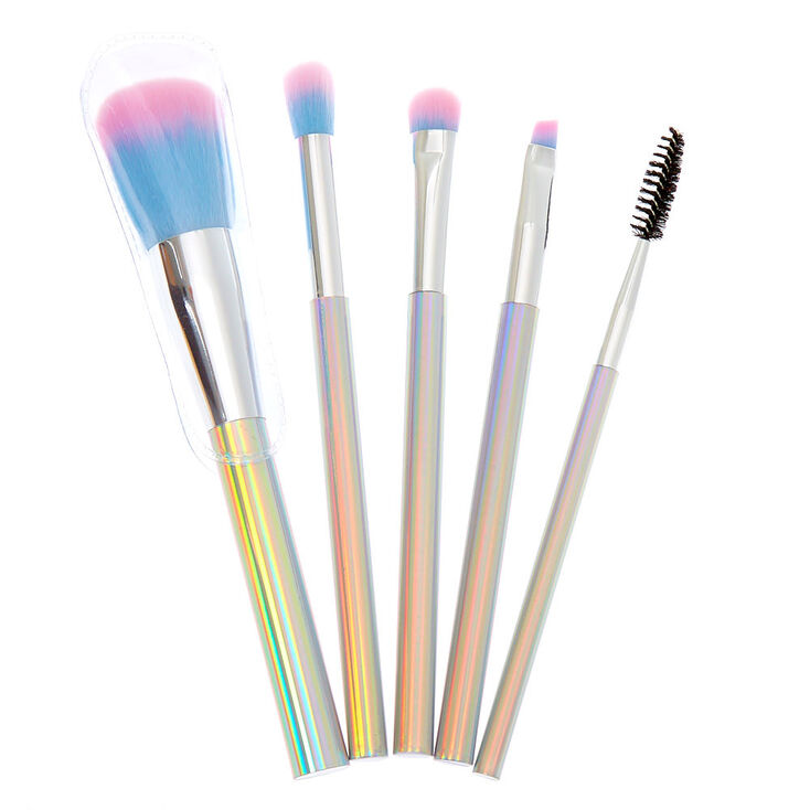 Holographic Makeup Brush Set - 5 Pack,