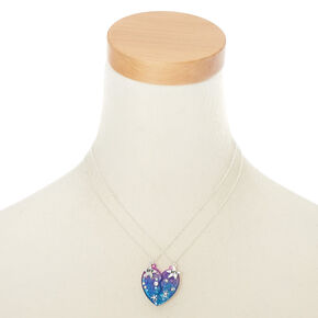 BFF Starfish Shell Heart Pendant Necklace - 2 Pack,
