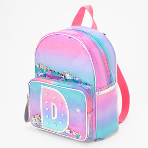 Ombre Shaker Initial Mini Backpack - D,