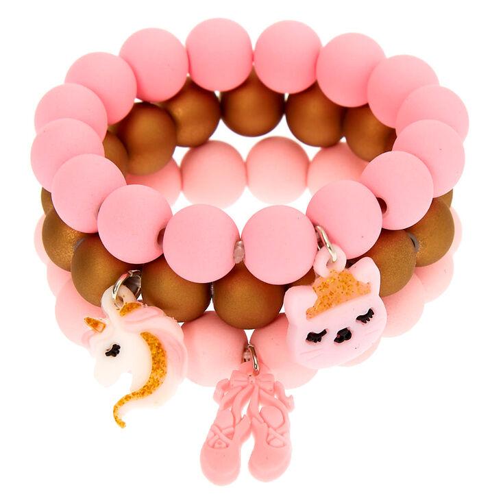 Claire's Club Ballerina Stretch Bracelets - 3 Pack,
