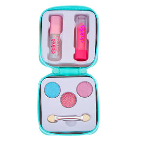 Claire's Club Butterfly Makeup Tin Set - Teal,