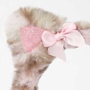 Claire's Club Plush Leopard Ear Muffs - Pink,