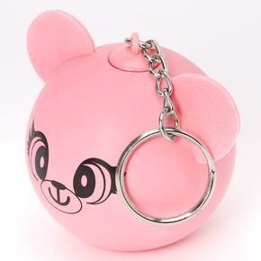 Bear Stress Ball Keychain - Pink,