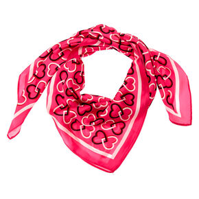 Square Heart Fashion Scarf - Pink,