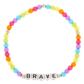 Rainbow Brave Beaded Stretch Bracelet,